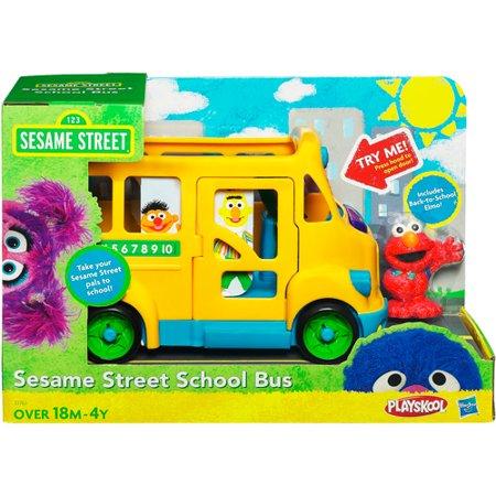 Sesame Street Playskool School Bus (Playskool Sesame Street Elmo Junction Train Set)