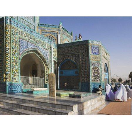 Pilgrims at the Shrine of Hazrat Ali, Mazar-I-Sharif, Afghanistan Print Wall Art By Jane