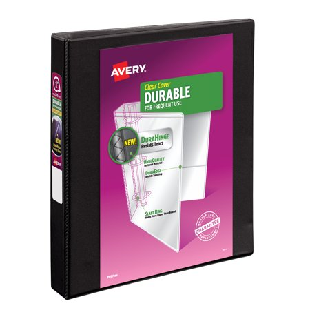 avery 1 durable reference vinyl ez turn ring view binder black
