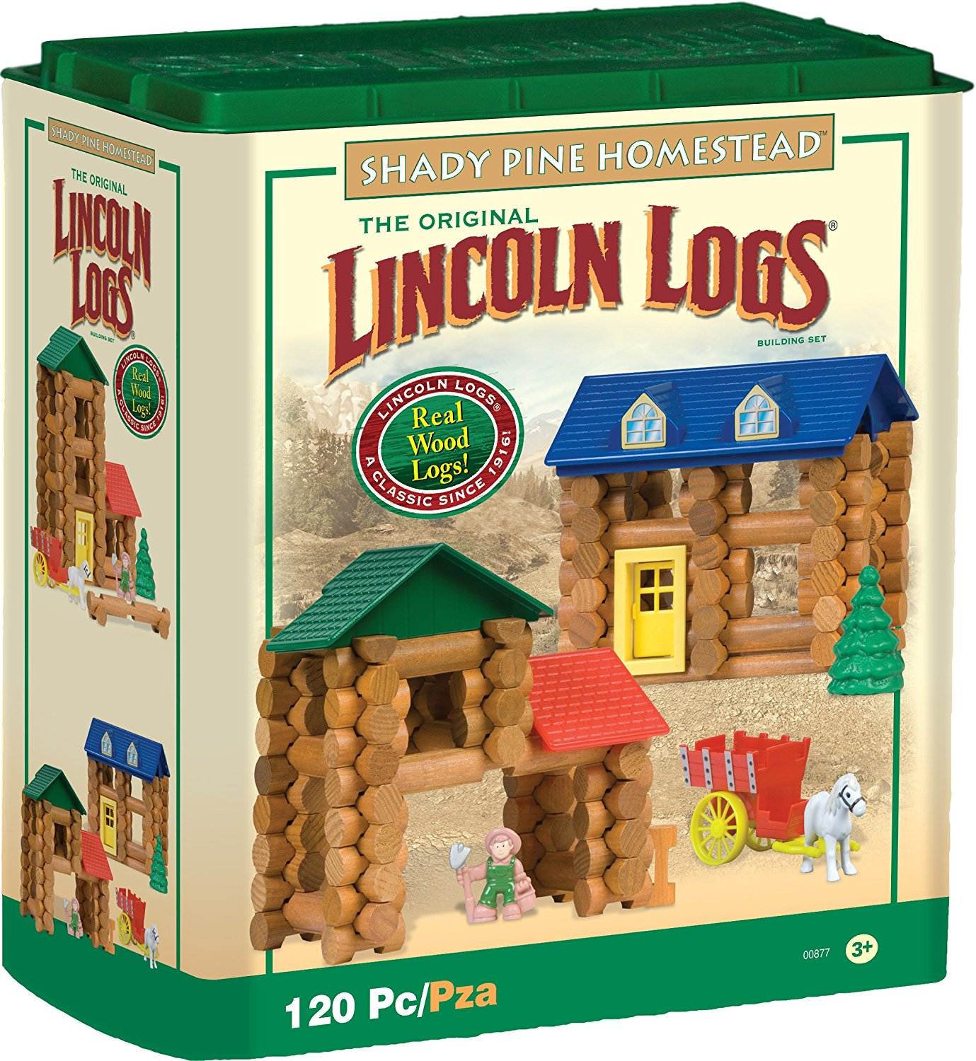 Lincoln Logs Shady Pine Homestead 120 Pc - NEW