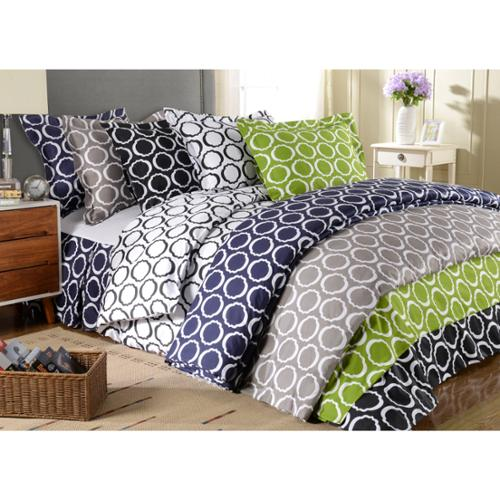 Luxor Treasures Scroll Park 600 Thread Count 3-piece Duvet Cover Set Full/Queen - White/Black
