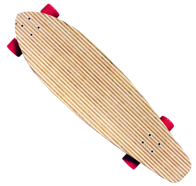 Bamboo LONGBOARD COMPLETE CRUISER KICK TAIL - 76mm wheels