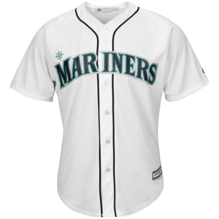 Seattle Mariners Authentic Alternate Jersey (Seattle Mariners Majestic Youth Official Cool Base Jersey - White)