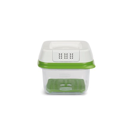Rubbermaid FreshWorks Produce Saver Food Storage Container, Small Square, 2.5 Cup (Small Storage Boxes)