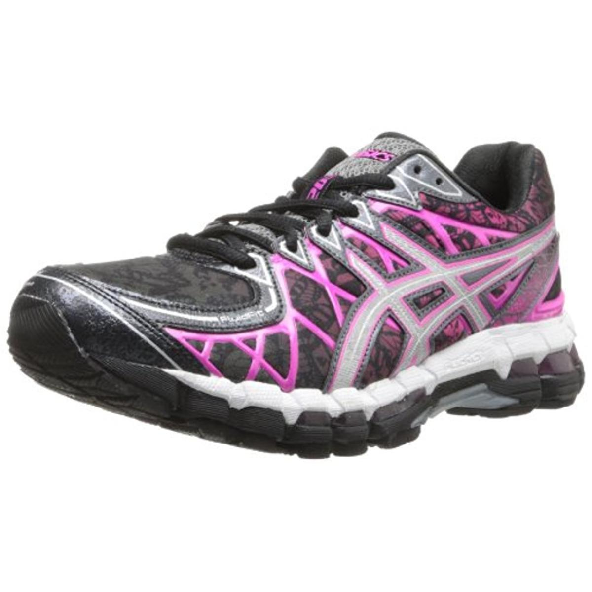 Asics Womens Kyano20 Faux Leather Metallic Running Shoes