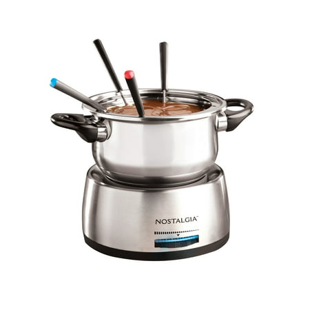 Fun Fondue Set - Nostalgia FPS200 6-Cup Stainless Steel Electric Fondue Pot