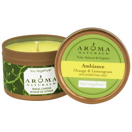 Aroma Naturals Ambiance Soy Vegepure Candle, Small Travel Tin - 1 Ea