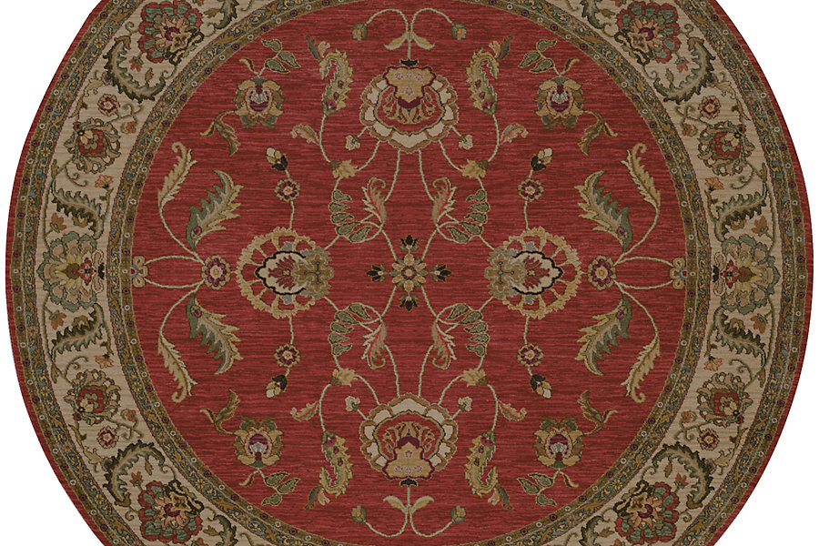 "Karastan Ashara Agra Red (8' 8""x8' 8"" Round) by Mohwak Home"