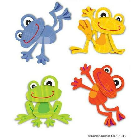 Carson Dellosa tatouages temporaires - grenouilles Funky