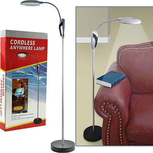 Trademark Global Portable Lamp Stand w/ LED Lights - Cordless