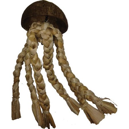 A&e Cage Company-Java Wood Jelly Fish Bird Toy- Assorted 15x4 In
