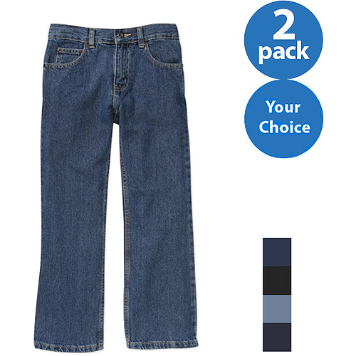 Faded Glory Boys' Relaxed Jean, 2 Pack Value Bundle