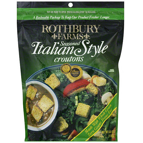 Rothbury Farms Seasoned Italian Style Croutons, 5 oz (Pack of 12)