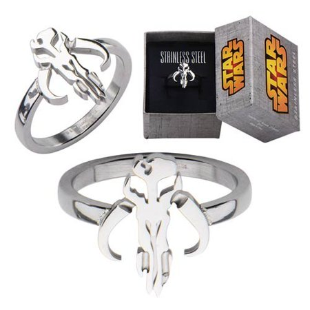 Star Wars Mandalorian Symbol Cut Out Ring SIZE 8 (Number of Pieces Per Case: 6)