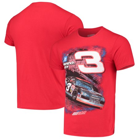 Dale Earnhardt Checkered Flag Goodwrench T-Shirt - Red Dale Earnhardt Sr Kids Fan