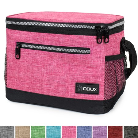 OPUX Premium Insulated Lunch Bag with Shoulder Strap | Lunch Box for Adults, Kids | Soft Leak Proof Liner | Medium Capacity Lunch Cooler for Office, School | Fits 6