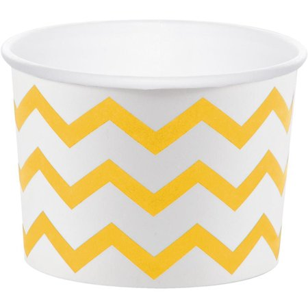 Creative Converting School Bus Yellow Chevron Treat Cups, 6 ct - Treat Cups