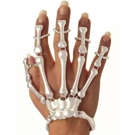 Forum Novelties Skeleton Skull - Skeleton Hand Ring Bracelet