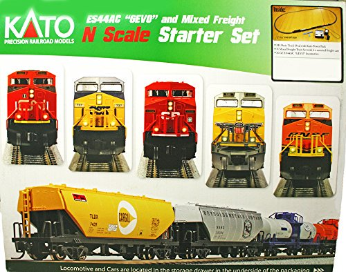 Kato N Scale ES44AC CN Locomotive & Freight Starter Set Multi-Colored