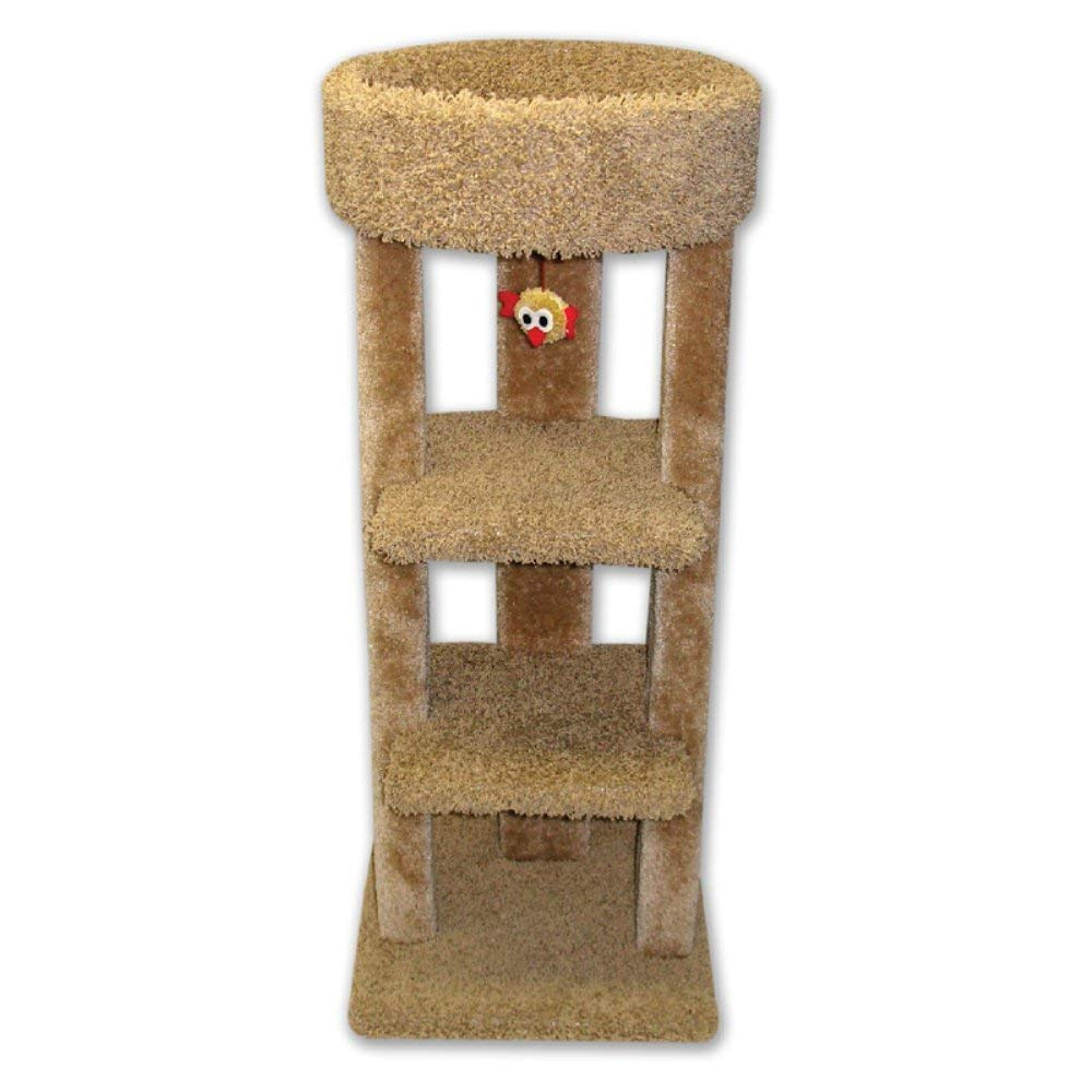 Beatrise 3 Tier Carpeted Kitty Skyline Cat Tree Playground Tower with Cat Nip by Beatrise Pet Products