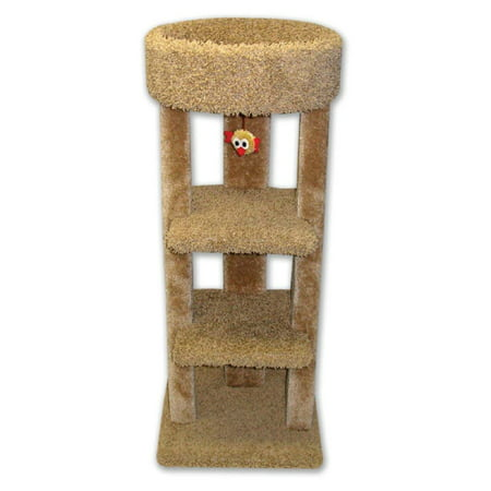 Beatrise 3 Tier Carpeted Kitty Skyline Cat Tree Playground Tower with Cat Nip (Kitty Playground)