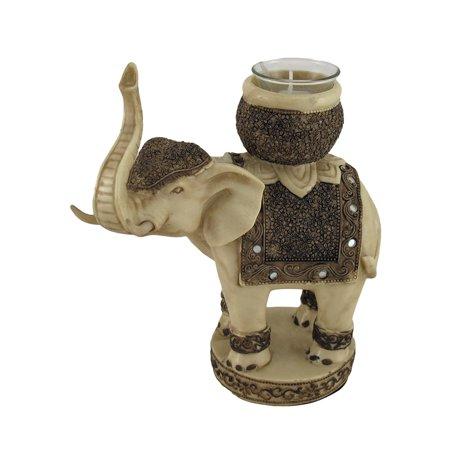 Antiqued Finish Elephant Tealight / Votive Candle Holder - image 4 of 4