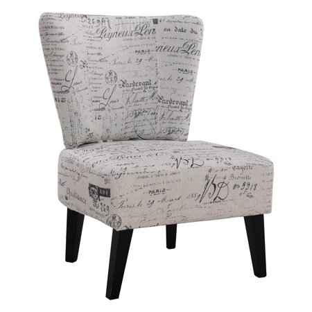 costway armless accent chair upholstered seat dining chair living