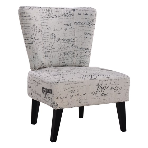 Costway Armless Accent Chair Upholstered Seat Dining Chair Living ...