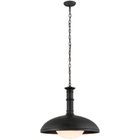 Pendants 1 Light With Vintage Patina Bronze Finish Hand-Worked Iron and Glass Material Medium 22 inch Long 60 Watts