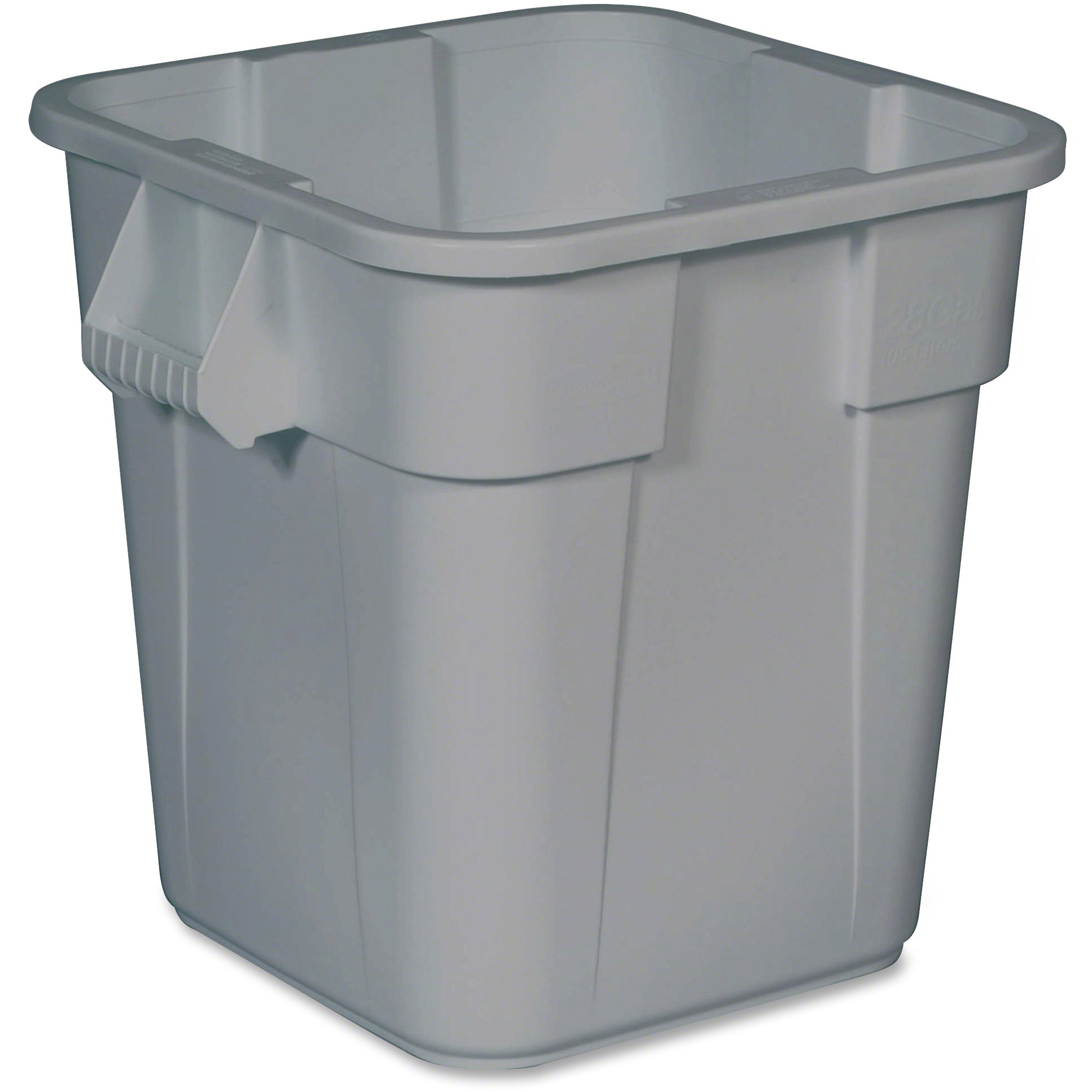 Rubbermaid Commercial, RCP352600GY, Square Brute Container, 1, Gray