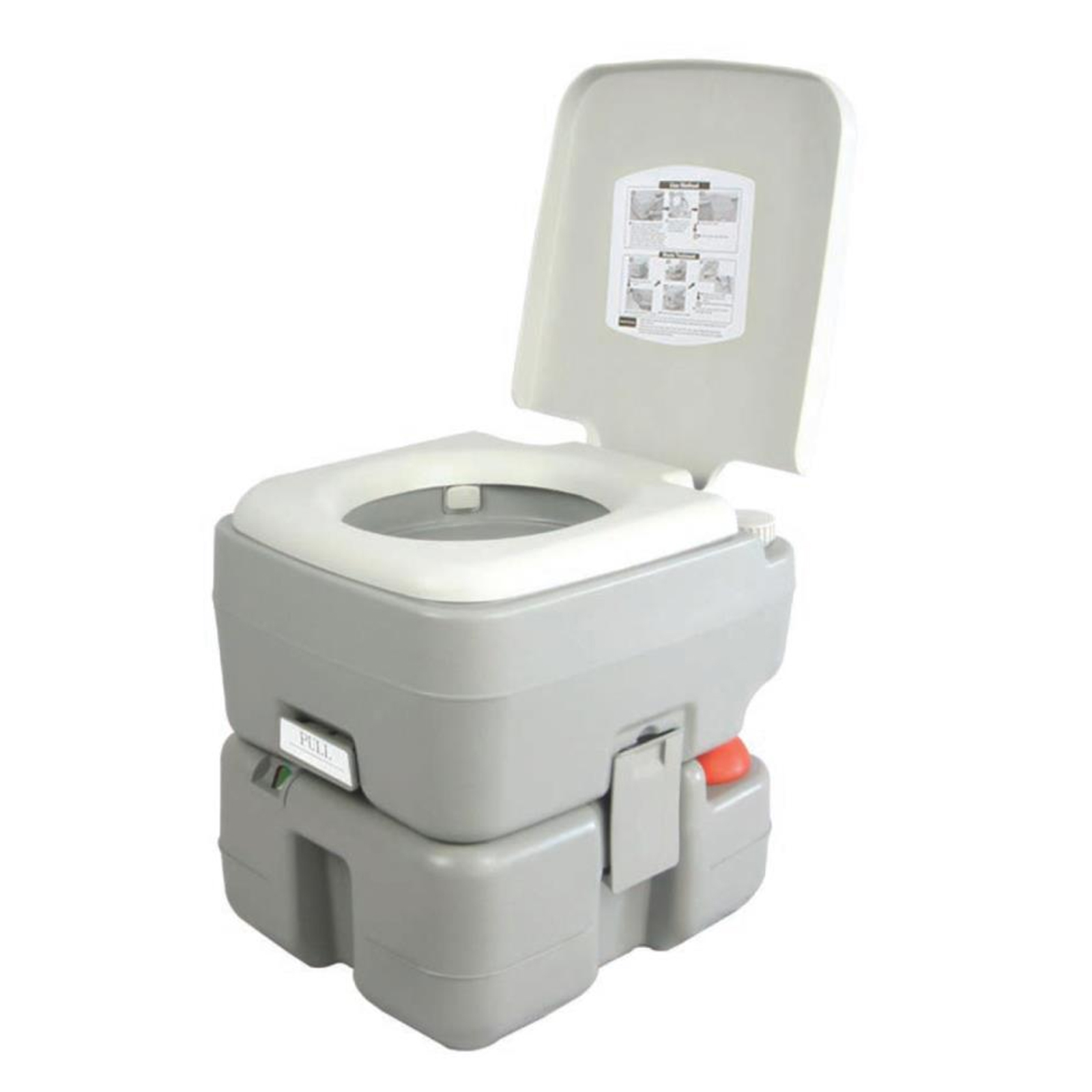 Serene Life Portable Toilet Outdoor & Travel Toilet, 5.3 Gal. by Pyle