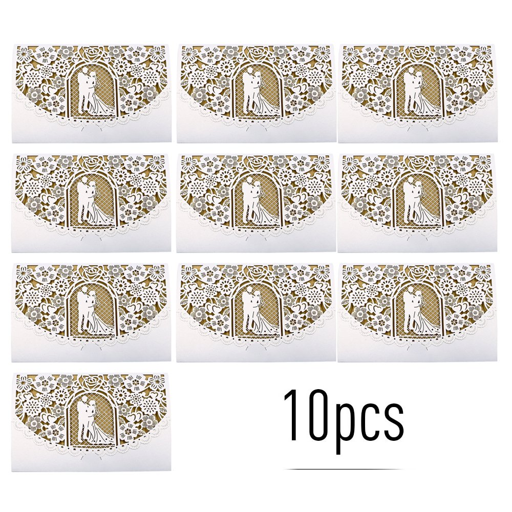 5pcs Pearl Paper Floral Invitation Cards Invitation Holders for Wedding  Birthday Party Anniversary