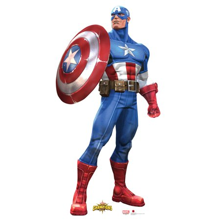 Captain America Super Soldier Steve Rogers Marvel Avenger Superhero Cutout Stand Large Cardboard Cutout Party Prop Decor Birthday party Supplies, Comic Superhero Birthday decoration Size: 72