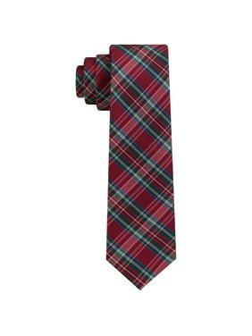 Tommy Hilfiger Boys Tartan Self-tied Necktie, Red, One Size