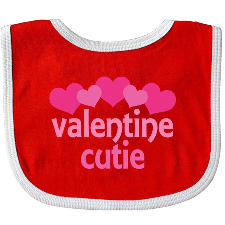 Inktastic Valentine Cutie Baby Bib Valentines Day Pink Heart Holiday Girls Cute Gift Idea For Babys First 1st Clothing Infant Hws](Eighty Clothes Ideas)