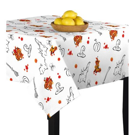 The Holiday Aisle Mcdonough Halloween Sketch Tablecloth