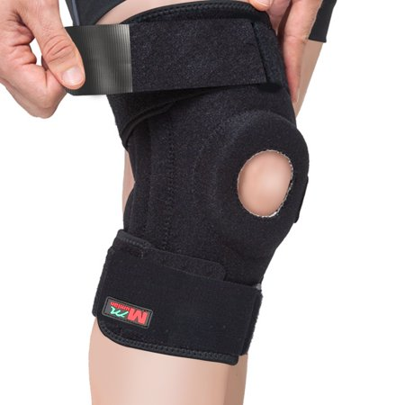 SGODDE 4 Springs Support Knee Sleeve, Single Knee Wraps Braces for Pain Relief, Meniscus Tear, Arthritis, Injury, Running, and Joint Pain - Best Knee Sleeve -