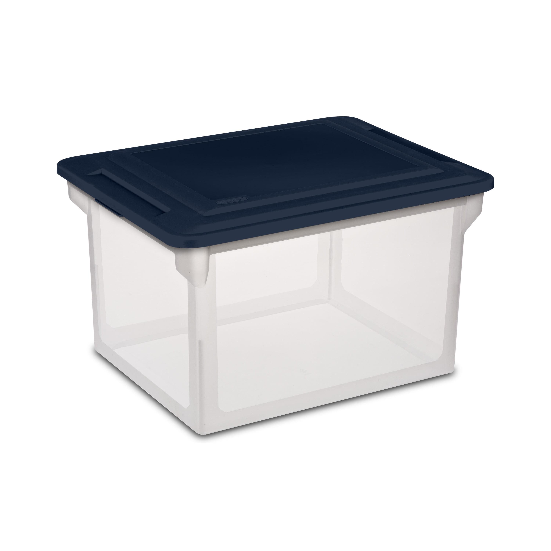 Sterilite File Box Blue Cove