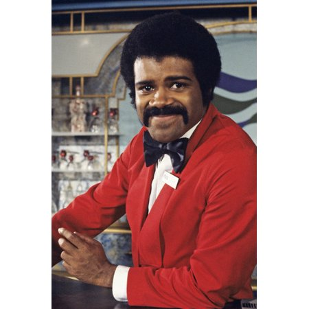 Ted Lange in The Love Boat posing behind bar as Isaac 24x36 Poster - Love Boat Isaac