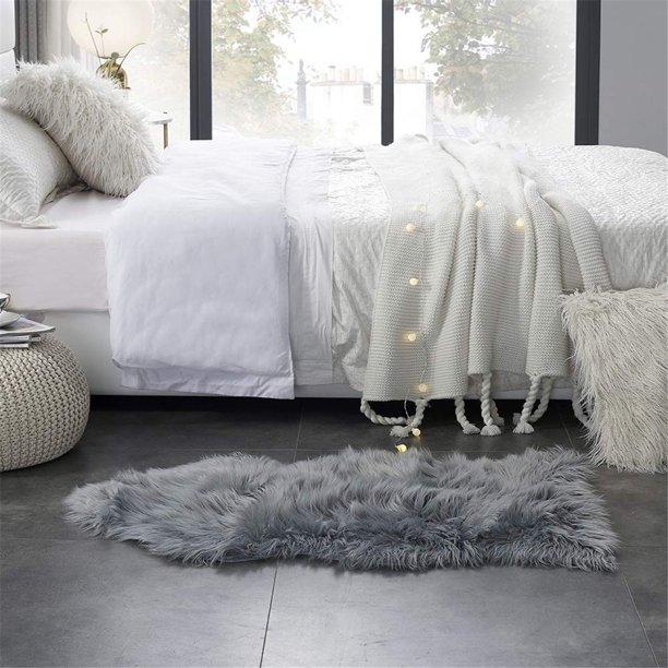 Faux Sheepskin Fur Rug Soft Fluffy