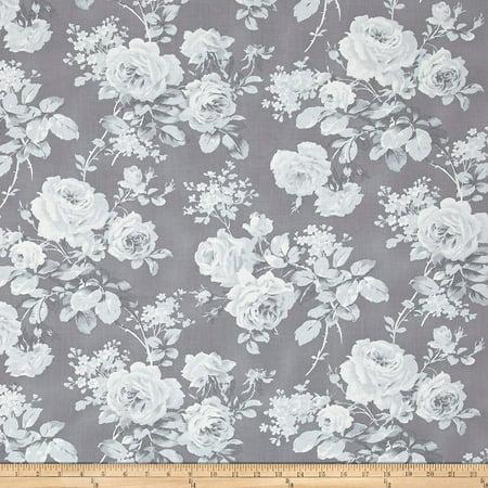 FreeSpirit Fabrics Free Spirit 0525000 Tanya Whelan Shades Royal Rose Yard, Grey, Fabric type: 100% Cotton By Free Spirit Fabrics