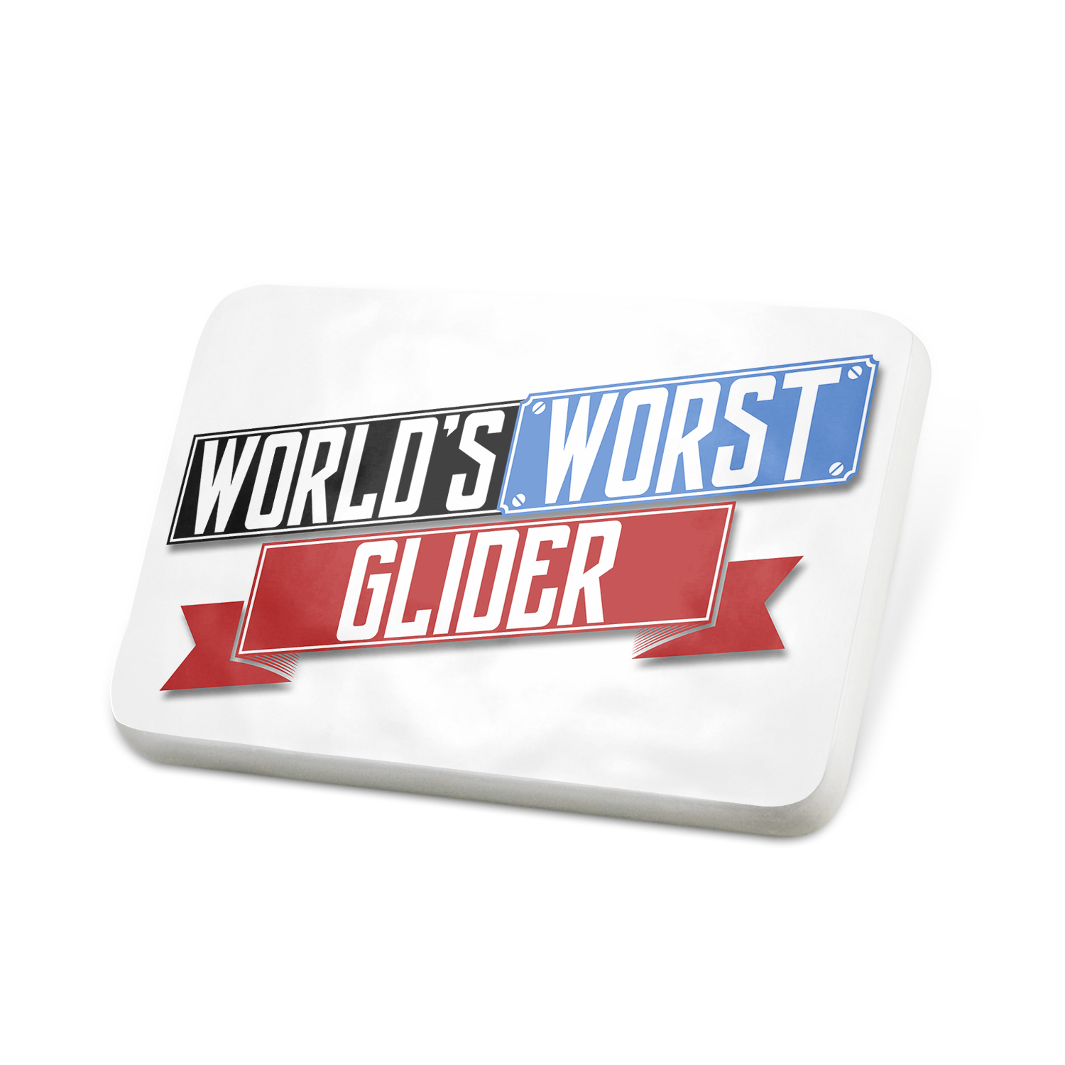 Porcelein Pin Funny Worlds worst Glider Lapel Badge – NEONBLOND
