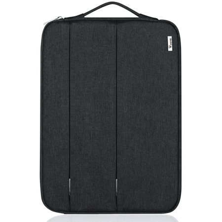 11.6 Inch Vertical Laptop / Tablet Sleeve with Handle and Charger Pocket Lightweight Shockproof Notebook Protective Carry Case Bag for Macbook Air 11.6 / 12, iPad Pro 12.9, Surface Pro 4 / 3