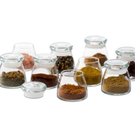 Libbey Vibe Mini Glass Jars with Lids, Set of 12