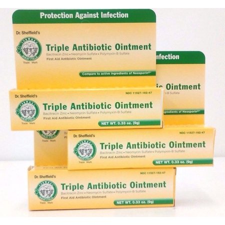 DR SHEFFIELD'S TRIPLE ANTIBIOTIC OINTMENT 0 33 OZ PACK OF 3