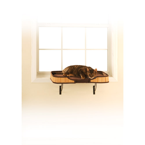 Window Perch Bamboo - Natural/Chocolate trim