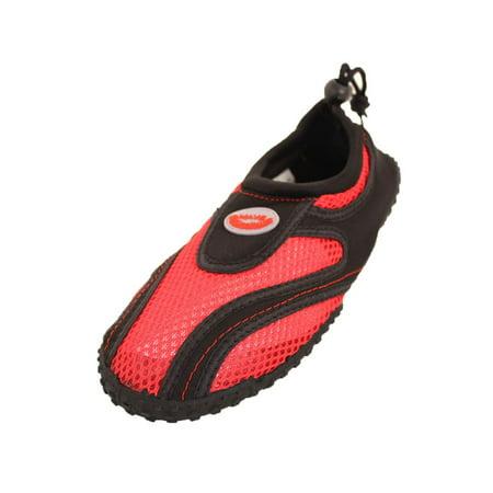 Wave Women's Drawstring Slip On Aqua Socks Water Shoes ()