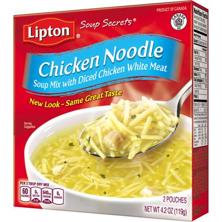 (8 Pack) Lipton Soup Secrets Instant Soup Mix Chicken Noodle 4.2 oz