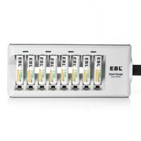 EBL 8-Pack 1100mAh 1.2V AAA Battery + 8 Bay 808 Battery Charger For AA/AAA Ni-MH Ni-CD Rechargeable batteries