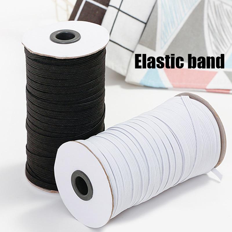 White 200-Yards Length 1//4 Width Braided Elastic Cord//Elastic Band//Elastic Rope//Bungee//White Heavy Stretch Knit Elastic Spool